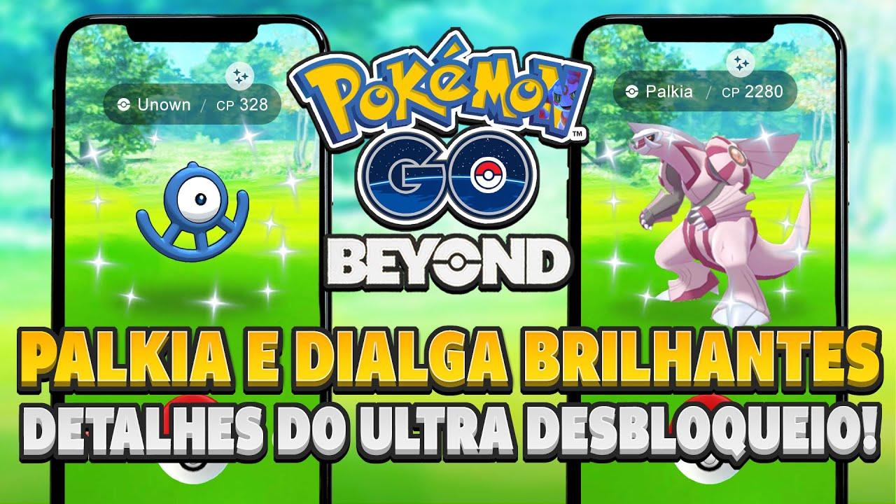PALKIA E DIALGA BRILHANTES e todos os detalhes do ULTRA DESBLOQUEIO! | Pokémon GO