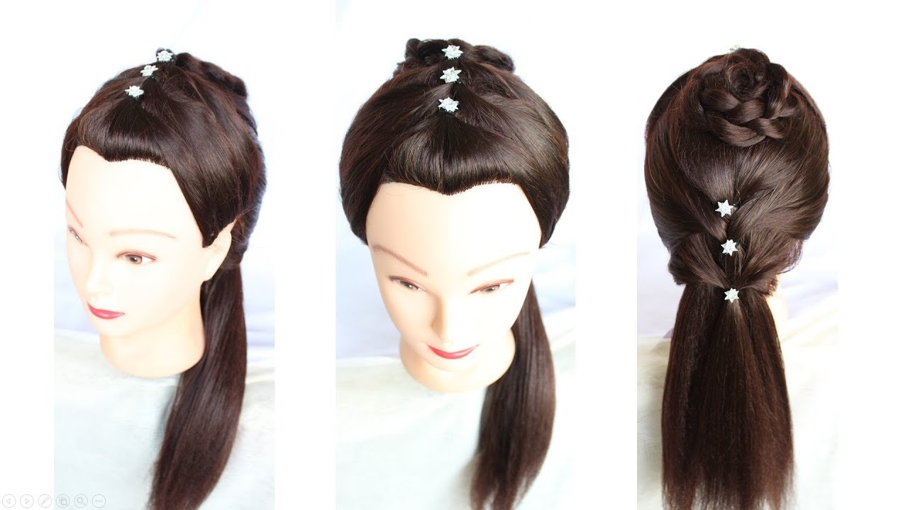 New Cute Stylish Easy Hairstyle For Party Simple Hairstyle