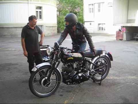 Motorcycle Vincent Black Shadow 1954