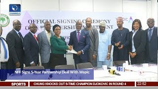 Football And Insurance: NFF Signs 5-Year Partnership Deal With Wapic