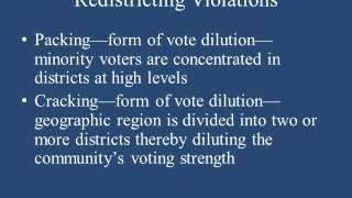 REAPPORTIONMENT AND REDISTRICTINGN