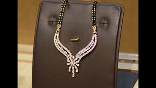 Latest Diamond Mangalsutra designs with WEIGHT and PRICE