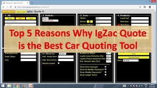Top 5 Reasons IgZac Quote is The Best Car Quoting Tool
