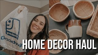 HOME DECOR THRIFT HAUL | Goodwill & Salvation Army