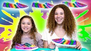 DIY Sharpie Tie Dye Shoes (Haschak Sisters)