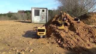Camion 1/14 RC Cat 345 D LME et Man 8x8 dump truck hydraulique