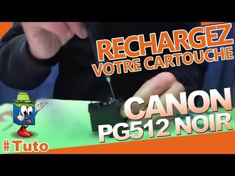 pg 512 canon cartouche noire bien recharger la cartouche d 39 encre youtube. Black Bedroom Furniture Sets. Home Design Ideas
