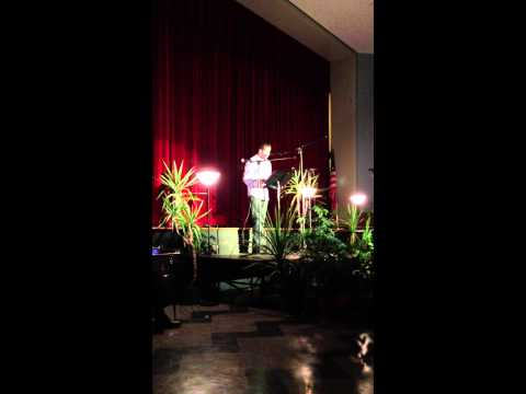 Patrick sings 'Yesterday' at Tenafly Middle School vocal showcase.
