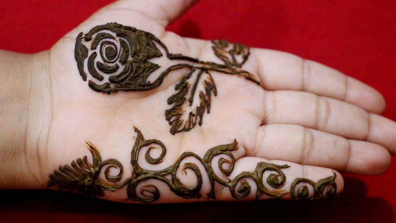 Mehndi For Teenage Girls : Rose mehndi design for teenagers art school & college