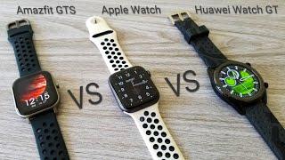 Amazfit GTS vs Apple Watch vs Huawei Watch GT - Comparison