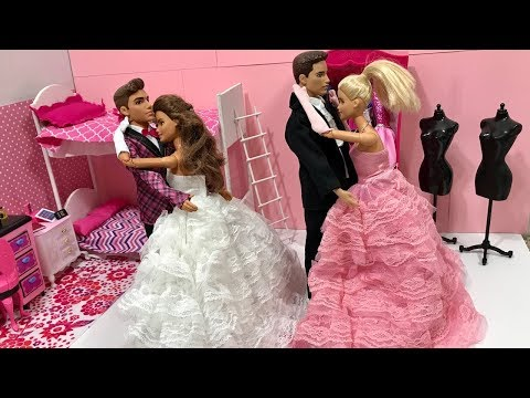 Barbie And Ken Fun Night with Friends! New Dresses!