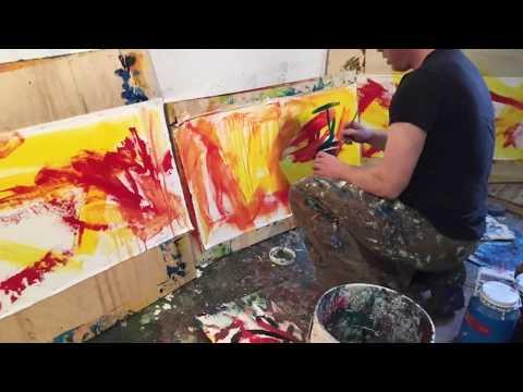 Three Artists making Art