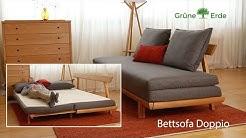 Bettsofa Doppio ausziehbar - Schlafsofa mit Lattenrost & Matratze | von Grüne Erde