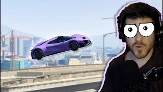 Can an Uber Driver survive Flying Traffic? (GTA 5)