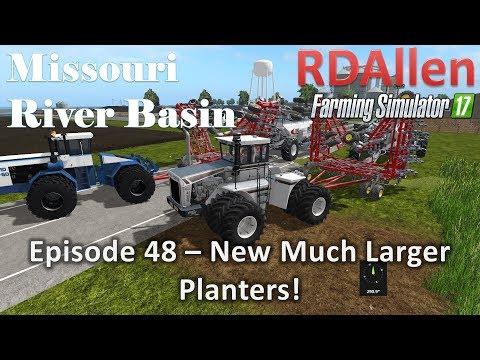 Farming Simulator 17 River Basin E48 - New, Much Larger Seeders!