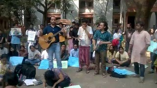 Day Long Protest By TISS Mumbai Against Institutional Murder of Rohit