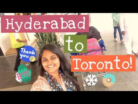 #KeerthiVlogs : HYDERABAD To TORONTO