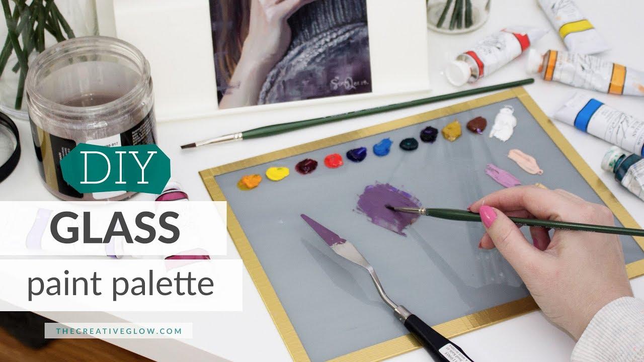 diy glass paint palette best cheapest palette ever youtube