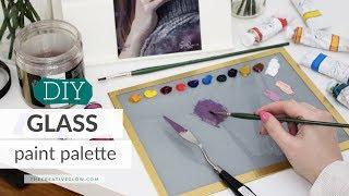 DIY Glass Paint Palette // Best & Cheapest Palette EVER!