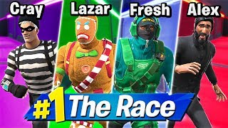 Download 4 PERSON DEATHRUN RACE! Ft. LazarBeam, Crayator, AlexAce Mp3 and Videos