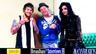 Black Veil Brides Interview #5 Andy Biersack ft. Danny Worsnop Asking Alexandria UNCUT 2012