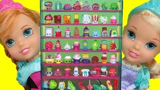 SHOPKINS! (Part 2) Elsa & Anna toddlers PLAY with Cinderella's GIANT SHOPKINS collection!