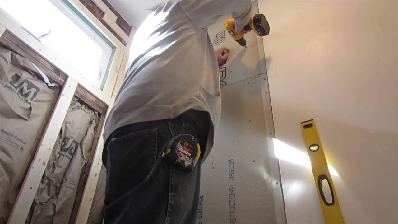 How to cut and install cement board for ceramic wall tile youtube how to cut and install cement board for ceramic wall tile dailygadgetfo Images