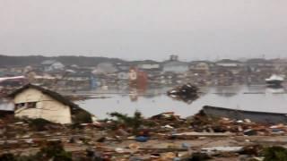 東北地方太平洋沖地震、被害、宮城県亘理町荒浜。東日本大震災 thumbnail