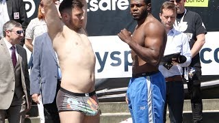 HUNG LIKE A RHINO - AGAIN! - DAVE ALLEN v  LENROY THOMAS - OFFICIAL WEIGH IN / BROOK  v SPENCE