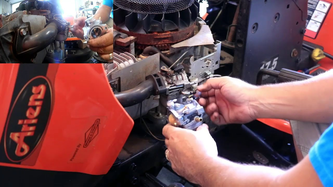 Carburetor Replacement On Ariens Law Mower With Briggs Stratton Engine Youtube