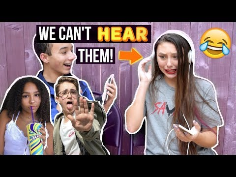 PRANK CALLING PEOPLE BUT WE CAN'T HEAR THEM!!