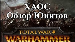 Total War: Warhammer - Хаос Обзор Юнитов
