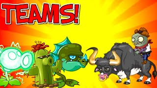 TEAMS Plants vs Zombies 2 vs Rodeo Legend Zombie - Legendary Plants in Team Gameplay