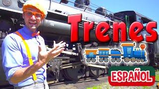 Blippi Español Viaje en el Tren a Vapor | Trenes Infantiles con Blippi Español | Videos educativos