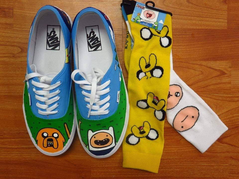 Adventure time shoes vans