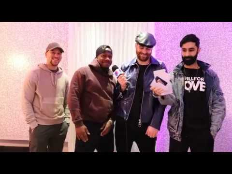 Rudimental celebrate These Days reaching Number 1 on the Official Singles Chart