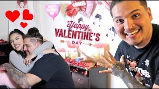SUPRISING my CRUSH on Valentine's Day! *Emotional*