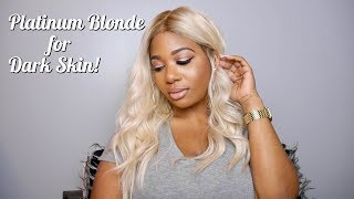 Platinum Blonde Hair on Dark Skin! Ft. Eva Wigs! | How to get Shadow Roots!