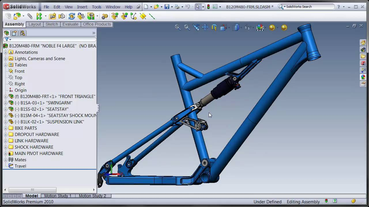 SolidWorks Suspension Frame 1 - YouTube