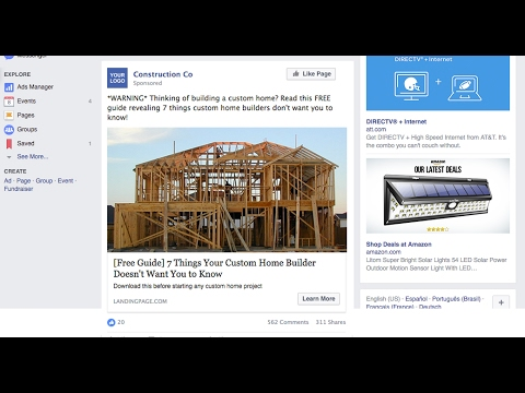 Facebook Marketing Construction Real Estate Industry