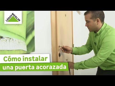 C mo instalar una puerta acorazada leroy merlin youtube - Como poner puerta corredera ...