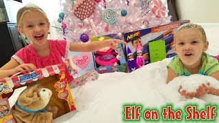 Elf on the Shelf Snow Day!!! 100 Lbs of Snow Inside Our House for 24 Hours!!! Day 11