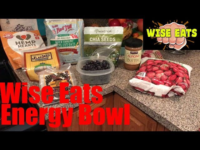 Wise Eats Energy Bowl – Healthy Breakfast for Energy, Focus (As seen on The Following Announcement)