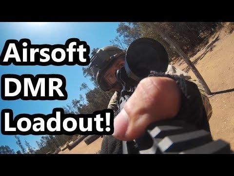 SR25 Airsoft DMR Loadout/Kit Video!