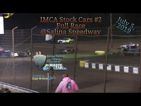 (IMCA) Stock Cars #4, Full Race, Salina Speedway, 07/05/19