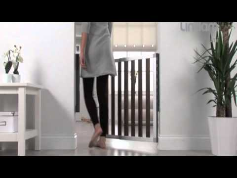Lindam Numi Dark Wood Safety Gate 66   101cm   YouTube