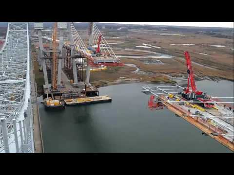Watch time-lapse video of new Goethals Bridge being built