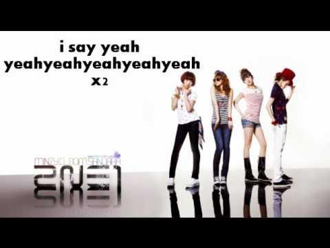 I love you - 2ne1 Easy lyrics