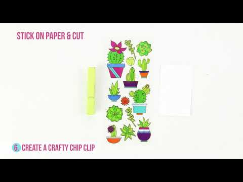 Crafting with Paper House Faux Enamel Stickers