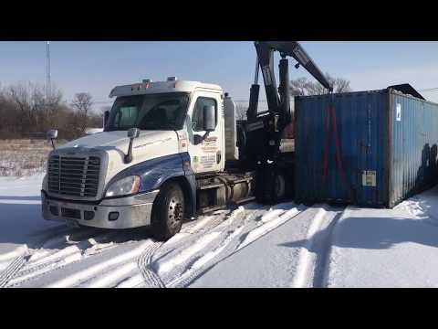 Self Unloading Shipping Container!!!!
